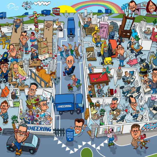the_cartoon_factory_cartoonist_cartoon_poster_van_bedrijf