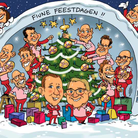 the_cartoon_factory_karikaturist_groepskarikatuur_kerst