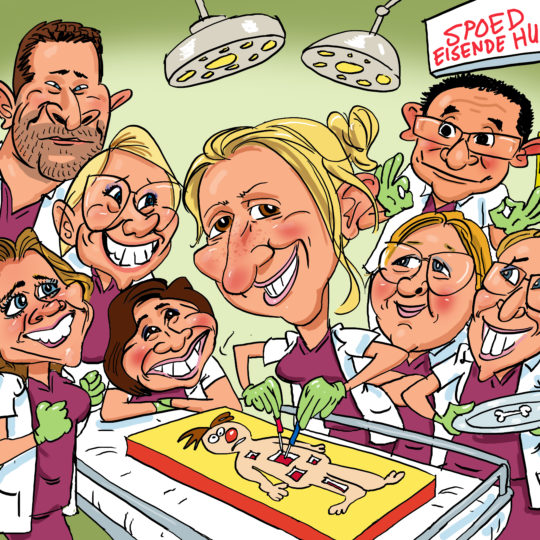 the_cartoon_factory_karikaturist_groepskarikatuur_ziekenhuis